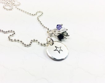 Asexual Pride Necklace - Ace Pride Flag Jewelry - Asexuality - Ace Jewelry - Coming Out Gift - Personalized Necklace - Hand Stamped Necklace