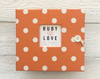 MOD Orange Polka Dot | BABY BOOK