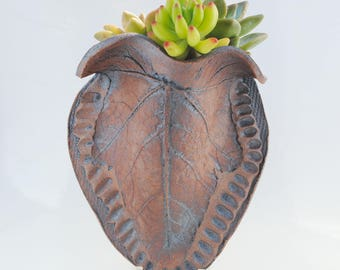 ceramic leaf  planter garden wall planter home garden decor