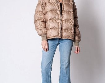 35% OFF SPRING SALE The Vintage Tan Quilted Down Jacket