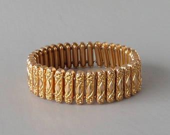 Antique Expansion Bracelet. Rose Gold Fill.