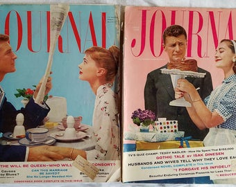 Vintage Ladies Home Journal October and November 1957 Magazines