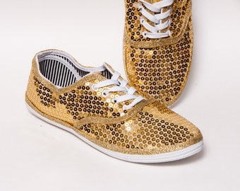 Sequin - CVO Gold Canvas Sneakers Tennis Shoes
