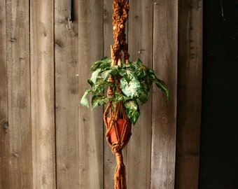 Rope Macrame Plant Hanger Bohemian Decor Jungalow Vintage From Nowvintage on Etsy