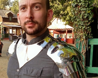 Knights in shining armour. Spaulders and Gorget