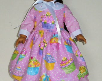 Colonial Easter Dress designed for American Girl Felicity,Elizabeth or Kirsten 3 pc.. No. 704