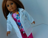 Lab Coat 18 inch Doll Clothes fits American Girl Dolls  Item 563