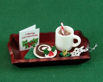Hot Cocoa and Dessert Tray (1:12th Scale)