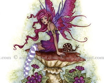 5x7 Magenta fairy PRINT by Amy Brown