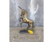 Unicorn - Brass Unicorn - Vintage Unicorn -  Bohemian Decor - Unicorn Decor - Whimsical Decor - Brass Figurine - Fantasy Decor -