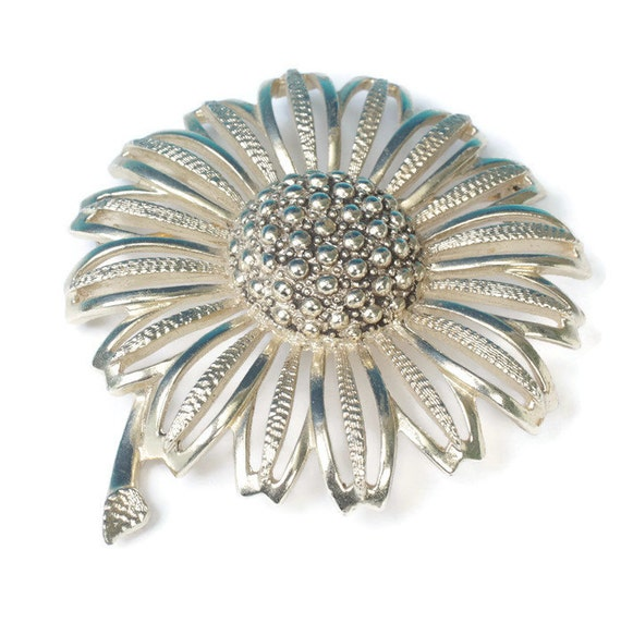 Large Coventry Sunflower Brooch Daisy Mae Statement Piece Sarah Coventry Vintage