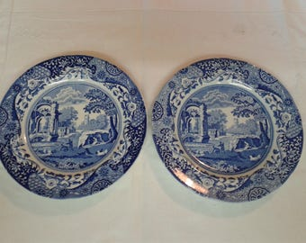 Spode Blueware Salad Plates - Set of two - 'Italian' Design