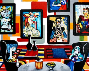 Picasso, Picasso Print, Pablo Picasso, Prints, Fine Art Prints, Wall Art, Sitting for Picasso