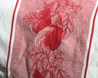 Vintage Linen/Cotton Storage Bag --Egg Plants
