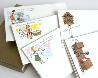 Vintage Current Post A Note Postcards Mixed Group (34) Note Cards Collectible Mid Century Ephemera