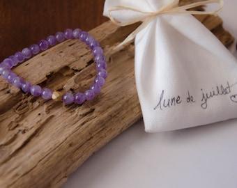 Bracelet améthyste yoga zen bohème