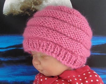 50% OFF SALE Instant Digital File pdf download knitting pattern - Baby Chunky Beehive Hat pdf download knitting pattern
