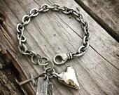 Sterling Silver Bracelet Rustic Heart Bracelet Handmade By Joy Kruse Wild Prairie Silver Jewelry