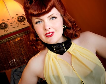 Silk Spectre Watchmen cosplay wig vintage pin-up hair Sally Jupiter victory rolls MADE TO ORDER