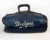 Vintage Los Angeles Dodgers Vinyl Gym Bag. Circa 1960's.