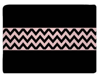 Pink and Black Elite Chevron Comfort Bath Mat, Other Colors available, 27x18 inches - with Initial or Name