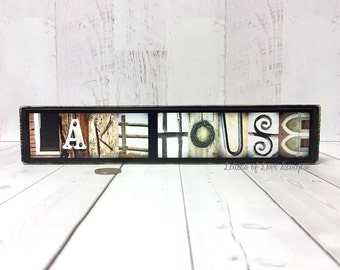 Lake House Wall Art lake house wall art | etsy