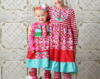 Girls Christmas Headbands - Candy Striper headbands-m2m Candy Striper Christmas dresses- from Mellon Monkeys