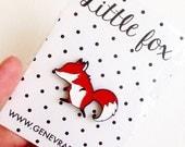 Little Fox Enamel Pin