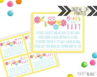 Books For Baby Insert Card   Lovebirds Books For Baby   Digital or Printed   Owl Baby Shower   Books For Baby Shower   Love Birds Shower