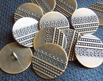 See Shop Announcement for 60% off code! Bronze Shank Buttons - 7/8 inch X 4