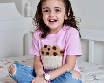 Kids Shirt - Hungry Kids - Chocolate Chip Muffin - Toddler Tshirt