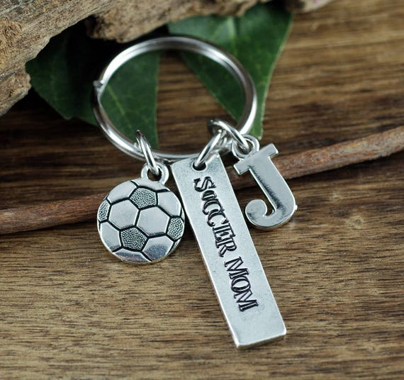 SoccerMom Keychain, Personalized Sports Keychain, Jewelry for Soccer Mom, Mothers Day Gift, Soccer Jewelry, Team Mom Gift, Soccer Inspired