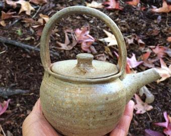 Salt fired Teapot, Earth Tone