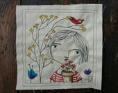 Art in stitches- The yellow flower tree
