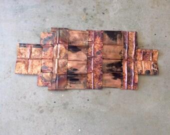 Wild Fire / Copper Wall Sculpture
