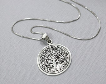 Sterling Silver Tree of Life Necklace, Tree of Life Necklace,  Gift For Mom, Gift for Wife, Gift for Grandmother, Family Tree Necklace