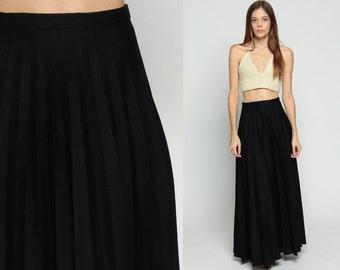 Black maxi skirt | Etsy