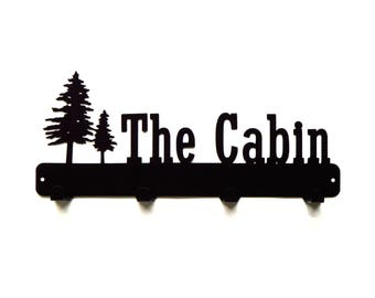 The Cabin Metal Art Coat Rack - Free USA Shipping