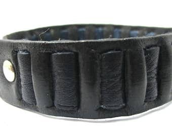 Handmade surf surfer genuine  leather strap bracelet