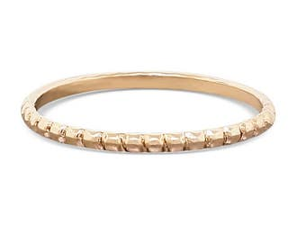 14k Gold Stacking Ring • Rose Gold Stacking • Engagement Ring • Promise Ring • Boho Ring • Gift For Her