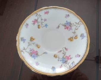 60s Saucer Bone China Violet Pompadour Royal Stafford Made in England