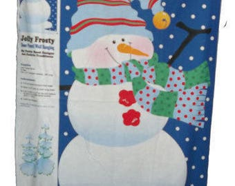 Jolly Frosty Fabric Wall Panel