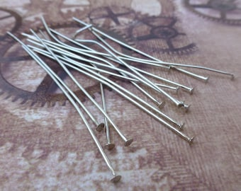 free UK postage 200 Silver Head Pins 6 cm