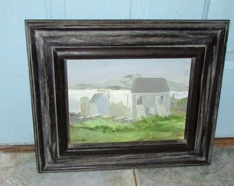 Vintage Oil Painting On Board From Art Colony MONHEGAN ISLAND Maine Picture