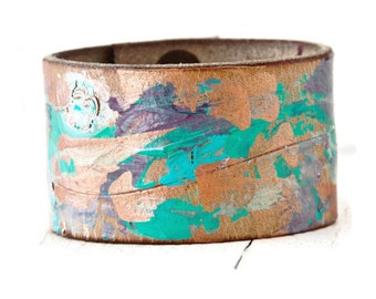 Ideas For Gifts - Bracelets Leather Cuffs - Unique Boho Jewelry - Leather Wristband