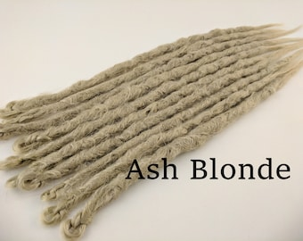 10 Pale Ash Blonde Synthetic dreads, dreadlocks, dreads, synthetic dreadlocks, dreadlock extensions, dread, hair extensions double or single