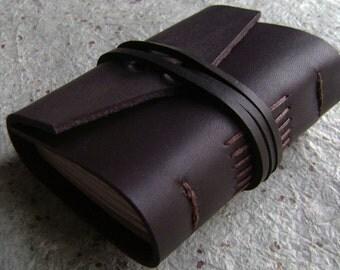 "Pocket Journal 2.5""x 3.5"", pocket diary, tiny travel diary, handmade leather journal (2313)"
