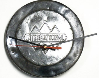 Vintage 1940's - 1950's International Harvester Truck Hubcap Clock - IH Pickup Hub Cap