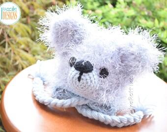 SALE - Fluffy Teddy Bear READY to SHIP Handmade Crochet Hat for Newborns