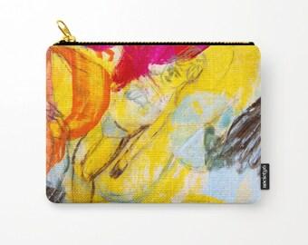 Cosmetic bag, toiletry storage, makeup bag, beauty Pouch, pencil bag summer, colourful purse, anagonzalezart